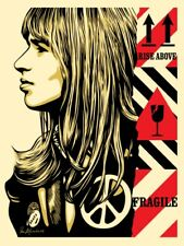 Shepard Fairey FRAGILE PEACE print Obey Giant woman girl portrait rise above