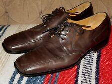 Paolo De Marco Handmade Brown Leather Lace-Up Shoes Made in Spain Men's 11 M