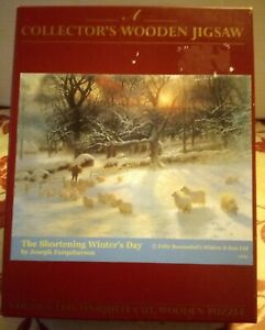 WENTWORTH Shortening Winters Day 250 pce Wood JIGSAW PUZZLE Snow Sheep Christmas