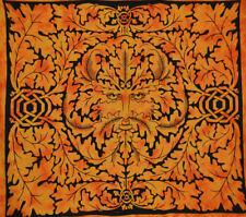 Tenture motif esprit de la forêt orange (grande taille)