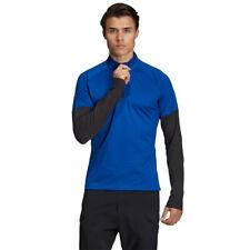 Adidas Mens xperior активный топ-синий спортивный бег спортзал половина молнии дышащие