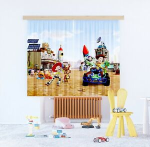 Toy Story Pair of ready made CURTAINS children's bedroom 180x160cm