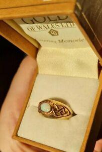 Clogau Gold Opal Celtic Design Ring Size N