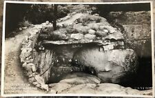 RPPC Tennessee TN Rock City Garden Lookout Mt Shelter  Rock C20s By Cline