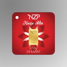 1/10 gr 0.10 gram gold bar 24 karat 995,0 Nzp Gold int sertificated