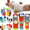 Baby Infant Kids Toy Soft Animal Hand Wrist Bells Foot Sock Multi shape Rattles