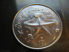 starfish fish 1970 Mardi Gras Doubloon Coin new orleans vintage