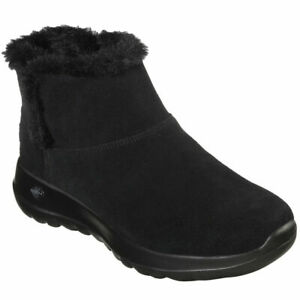 Skechers Women On The Go Joy Bundle Up Suede Winter Bootie Size 9M Black