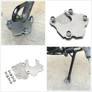 Stainless Motorcycle Side Kickstand Stand Foot Mount Extender Pad Universal New