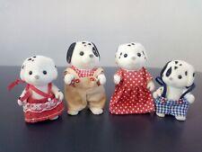 Sylvanian families dalmatian dog family figures in good condition