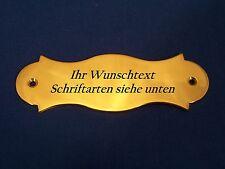 Namensschild, Türschild Messing 9,2 cm x 3,0 cm mit Wunschgravur