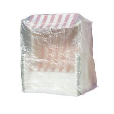 Schutzhülle Schutzbezug für Strandkorb transparent mit Ösen 180x135x115cm Garten