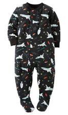 Carter's Black Outer Space Rockets Fleece Sleeper Pajamas Toddler Boy Size 2T