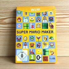 Super Mario Maker (Nintendo Wii U, 2015) - No Manual - Tested VGC UK PAL