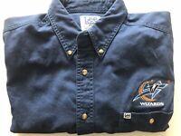 Vintage Washington Wizards Button Down Long Sleeve Shirt XL 90s NBA Lee Sport