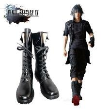 FFXV Black Boots Custom Made Final Fantasy XV Cosplay Noctis Lucis Caelum Shoes