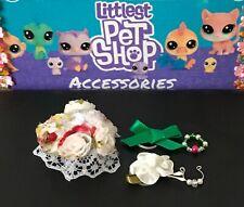 Colliers Bow LPS Chien non inclus * Blanc Fantaisie Jupe Set 4 Accessoires pour LPS
