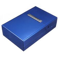 Blue Aliminium CIGARETTE BOX ~ ~ ~ ~ coloured metal cigaret colour case cigeret