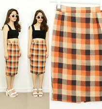 Unbranded Plaids & Checks Straight, Pencil Skirts for Women