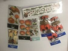 Fall Harvest Halloween Scrapbook Sticker LOT Pumpkins Witches 3D Glitter Harvest
