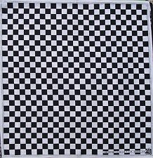 100% Cotton Black White Chess Board Design Bandanna Head Wear Bands Scarf Neck
