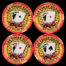 $5 Las Vegas Hilton 2000 Millenium Casino Chip Set of 4 - NM