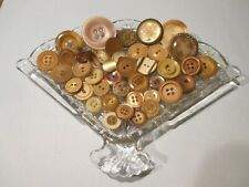 40 Tan Vintage Sewing Buttons #1