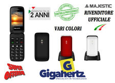 Telefono Cellulare per anziani TASTI GRANDI SENIOR a conchiglia Majestic 40
