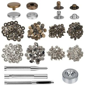 12mm Press Stud Snap Fastener Repair Tool Kit Buttons Sewing Leather Craft