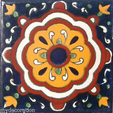 C#020) MEXICAN TILES CERAMIC HAND MADE SPANISH INFLUENCE TALAVERA MOSAIC ART