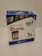 Dataproducts 4-Pack Black & Color Inkjet Cartridges for Canon CLI-271XL