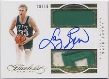 LARRY BIRD 2015-16 Panini Flawless JERSEY PATCH AUTO /18 BOSTON CELTICS HOF