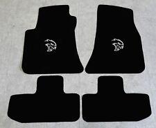 Autoteppich Fußmatten für Dodge Challenger Hellcat ab Bj 08 Velours Nubuk silber