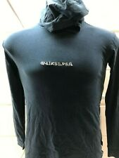 NWT Quicksilver Black Logo Pullover Hoodie Men's SIZE XS skeleton Fish $40.00