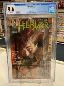 HELLBLAZER #1 (DC Comics, 1988)  CGC Graded 9.6 ~ JOHN CONSTANTINE ~ White Pages
