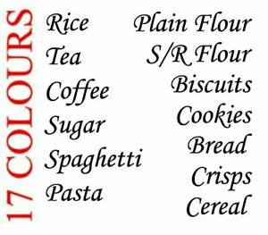 Kitchen Pantry Vinyl Decal Stickers Food Jars Containers Labels Hinch Style