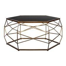 Glass Top Geometric Coffee Table