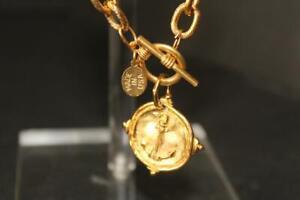 "Fantastic 24k Gold Plated Charm Bracelet - ANCHOR - New - 8""L - REDUCED"