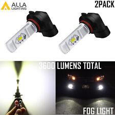 Alla Lighting 9006 HB4 Fog Light Driving Bulb,Crystal Pure White 6000K Lamp