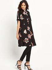 Vila Nadine Short Sleeved Oversized Shirt Dress Size 16 BNWT RRP £38.99 Black