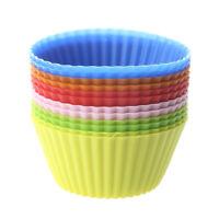 12er Set Silikon Muffinform Muffinförmchen Muffin Kuchen Cup 6 Farben Backform