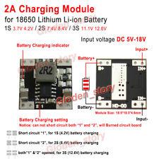 2A 1S 3.7V 2S 7.4V 3S 11.1V Li-ion 18650 Lithium Battery Charger Charging Module