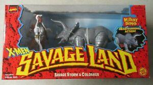 VINTAGE 1997 MARVEL X-MEN SAVAGE LAND STORM AND COLOSSUS FIGURE SET MIB SEALED