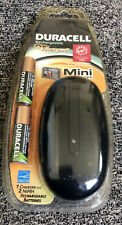 Duracell Rechargeable Mini Charger with 2 AA Staycharged Batteries New In Box