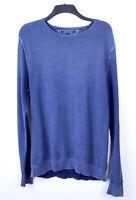 TOMMY HILFIGER Men's Blue 100% Cotton Jumper XL Crew Neck Light Sweater Top