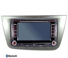 autoradio bluetooth 2 DIN GPS DVD pour seat leon + cadre façade avant