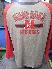 Genuine Stuff NCAA Mens Nebraska Huskers Tri-Blend Shirt New L