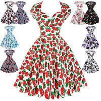 Belle Poque Women's Vintage Housewife Floral Pin Up Dance Swing Party Prom Dress