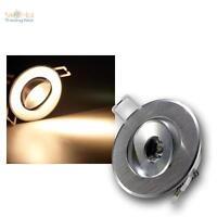 LED-Einbauleuchte 1W 230V, rund, 80lm, ALU Einbaustrahler Deckenleuchte Spot