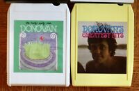 2 lot 8-Track tapes Donovan Hurdy Gurdy Man/ Greatest Hits Psychedelic Rock